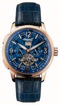Ingersoll Mens 1892 la correa de cuero azul regente azul dial I00301