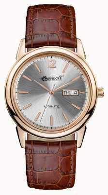 Ingersoll Mens 1892 la nueva correa de cuero marrón de paraíso I00503