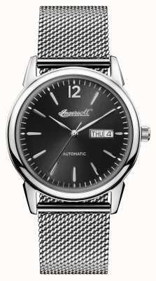Ingersoll Hombres 1892 el nuevo asilo de acero inoxidable dial negro I00505
