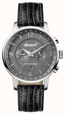 Ingersoll Mens 1892 la correa de cuero gris grafton gris dial I00601