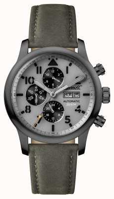 Ingersoll Descubre a los hombres la correa de cuero gris hatton gris dial I01401