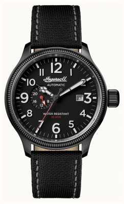Ingersoll Descubre a los hombres la correa de cuero negro de apsley negro dial I02801