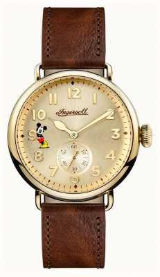 Disney By Ingersoll Unión para hombre el cuero marrón edición limitada de disney disney ID01201