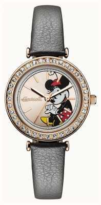 Disney By Ingersoll Unión para mujer disney dial correa de cuero gris oro ID00302