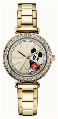 Ingersoll La unión de las mujeres el acero inoxidable del tono de oro de Disney ID00304