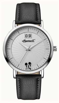 Ingersoll La unión de las mujeres la correa de cuero negra de Disney ID00501