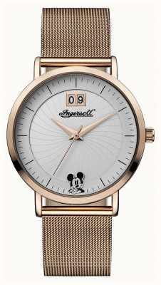 Disney By Ingersoll Unión de las mujeres disney dial de la correa de malla de plata ID00504