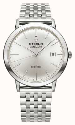 Eterna correa de acero cepillado esfera de plata para hombre de la eternidad automática 2700.41.10.1736