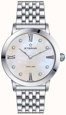 Eterna Womans cuarzo del dial del diamante perla de la eternidad 2720.41.66.1738