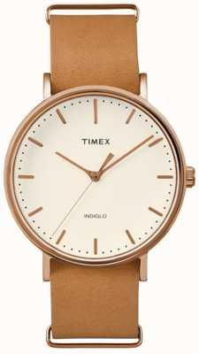 Timex Dial de crema fairfield de unisex TW2P91200
