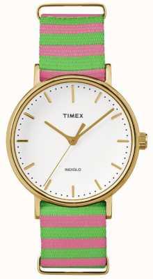 Timex Womens weekender fairfax rosa verde correa TW2P91800