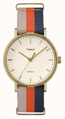 Timex Fairfax unisex correa de color marrón anaranjado de fin de semana TW2P91600