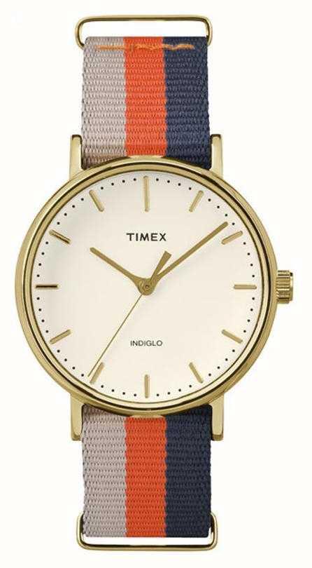 c0e6c6feab6f Timex Fairfax Unisex Correa De Color Marrón Anaranjado De Fin De ...