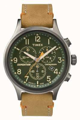 Timex Para hombre de línea verde cronógrafo explorador TW4B04400