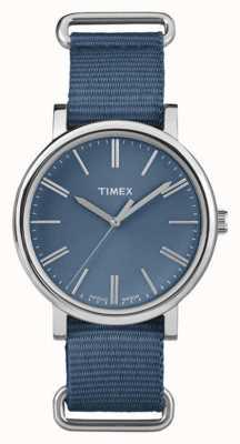 Timex correa de tela azul marino de línea unisex azul marino TW2P88700