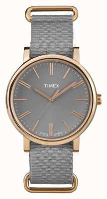 Timex correa de tela gris unisex esfera gris TW2P88600