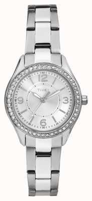 Timex Womans Miami Mini plata correa de acero inoxidable reloj de plata TW2P79800