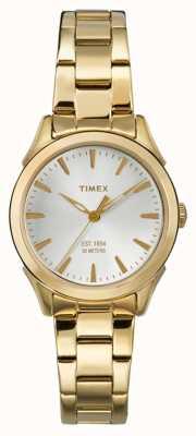 Timex Womans chesapeake correa de tono de oro TW2P81800