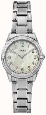 Timex Womans easton correa de acero línea de perlas avenida TW2P76000