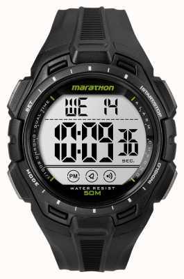 Timex Mens hombre de hierro de alarma maratón negro TW5K94800