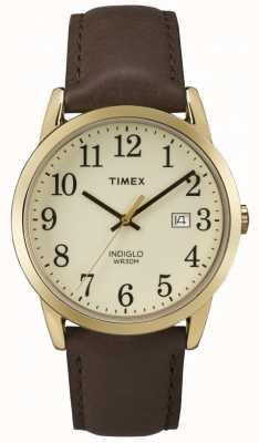Timex Para hombre de línea de crema Easy Reader TW2P75800