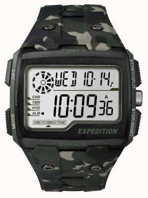Timex Mens choque rejilla de alarma del cronógrafo de color caqui TW4B02900