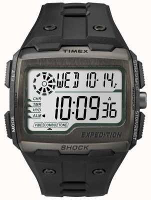 Timex Relojes de rejilla de alarma de choque todo negro TW4B02500