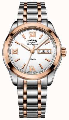 Rotary Reloj para hombre legado de dos tonos GB90175/06