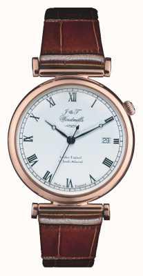 J&T Windmills Mens Bartolomé mecánica reloj de oro rosa WGS50001/01