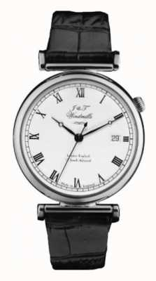 J&T Windmills Mens Bartolomé reloj mecánico de plata de ley WGS10000/08