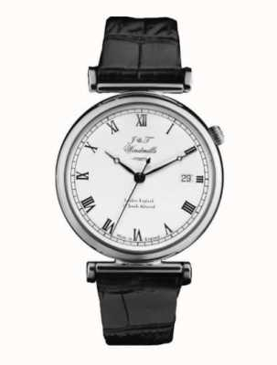 J&T Windmills Reloj mecánico bartolomé para hombre plata esterlina WGS10000/08