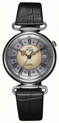 J&T Windmills Reloj mecánico de plata de ley throgmorton para hombre WGS10002/50