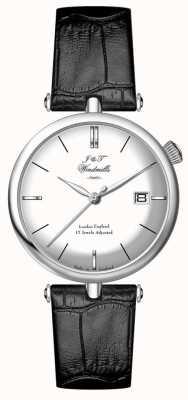 J&T Windmills Reloj de hombre de melamina de plata WGS10003/06