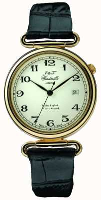 J&T Windmills Reloj mecánico throgmorton para hombres bañado en oro WGS50002/18