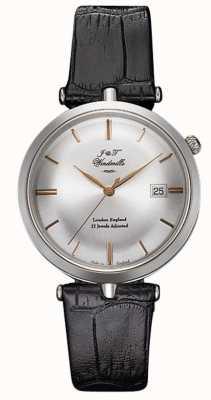 J&T Windmills Mens threadneedle plata reloj mecánico de oro rosa WGS10001/06