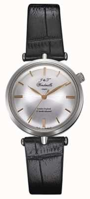 J&T Windmills Womans Threadneedle plata reloj mecánico de oro rosa WLS10001/06