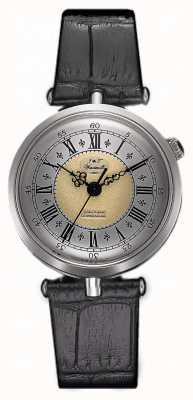 J&T Windmills Womans Throgmorton plata reloj mecánico WLS10002/50