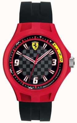 Scuderia Ferrari Caja roja de la correa de goma negra del equipo del pit del Mens 0830284
