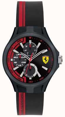 Scuderia Ferrari Hombres de pit tripulación de goma negra de color negro dial 0840013