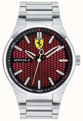 Scuderia Ferrari Mens especial acero inoxidable pulsera esfera roja 0830357