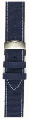 Elliot Brown Sólo para hombre correa de 22 mm se lavó desplegable lona azul STR-C01