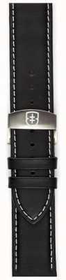 Elliot Brown Correa desplegable de cuero negro para hombre de 22mm solamente STR-L02