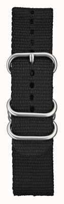 Elliot Brown El nylon balístico negro del Mens 22m m cepilló el hardware STR-N03