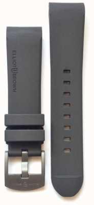 Elliot Brown Hebilla de lengua de acero de goma gris de 22 mm para hombre STR-R02