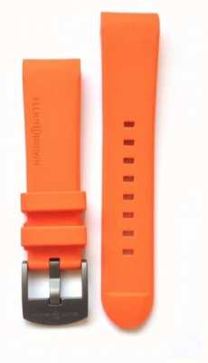 Elliot Brown Mens 22mm naranja de acero de goma hebilla correa de la hebilla sólo STR-R05