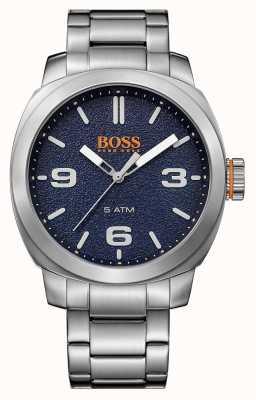 Hugo Boss Orange esfera azul brazalete de acero inoxidable para hombre de la ciudad del cabo 1513419