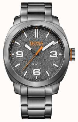 Hugo Boss Orange Mens esfera gris de acero inoxidable de tono gris 1513420