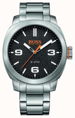 Hugo Boss Orange esfera de color negro pulsera de acero inoxidable para hombre de la ciudad del cabo 1513454