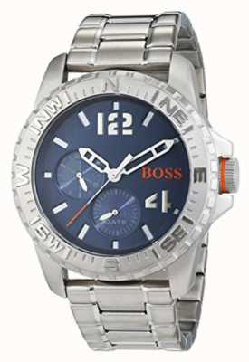 Hugo Boss Orange Mens Reykjavik brazalete de acero inoxidable de línea azul 1513424
