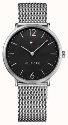 Tommy Hilfiger acero inoxidable esfera de color negro pulsera de malla para hombre james 1710355